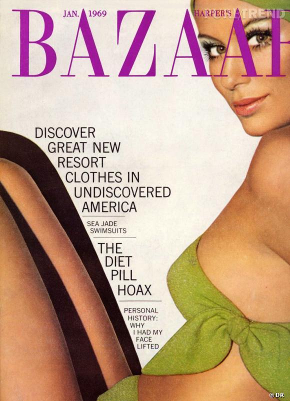 La couverture du Harper's Bazaar de janvier 1969 évoque des sujets étrangement modernes : la chirurgie esthétque et les pilules de régime