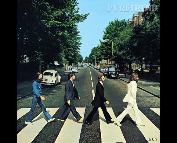 """La fameuse couverture de """"Abbey Road"""" des Beatles, qui a depuis inspiré de nombreux retournements"""