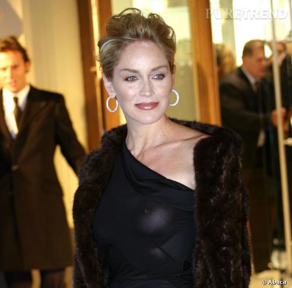 Sharon Stone met ses atouts au sommet... oups ça pointe !