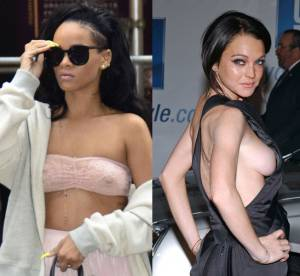 Rihanna, Lindsay Lohan, Lady Gaga : Les sans-soutifs, levez la main !