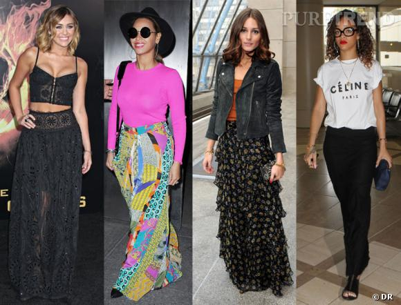 La jupe longue : 1 pièce, 10 possibilités.