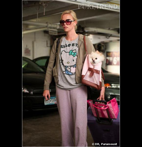 """Charlize Theron pour """"Young Adult"""" adore Hello Kitty."""