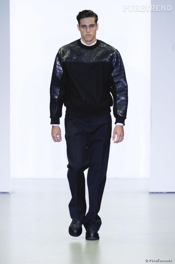Défilé Calvin Klein Collection Homme, Automne-Hiver 2012/2013.