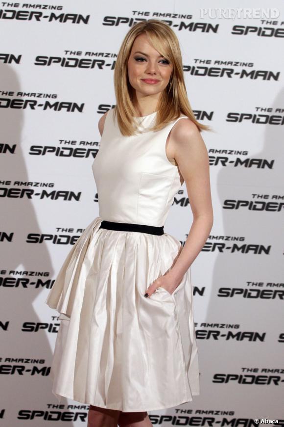 """Emma Stone continue vaillamment sa tournée de promotion pour le film """"The Amazing Spider-Man"""""""