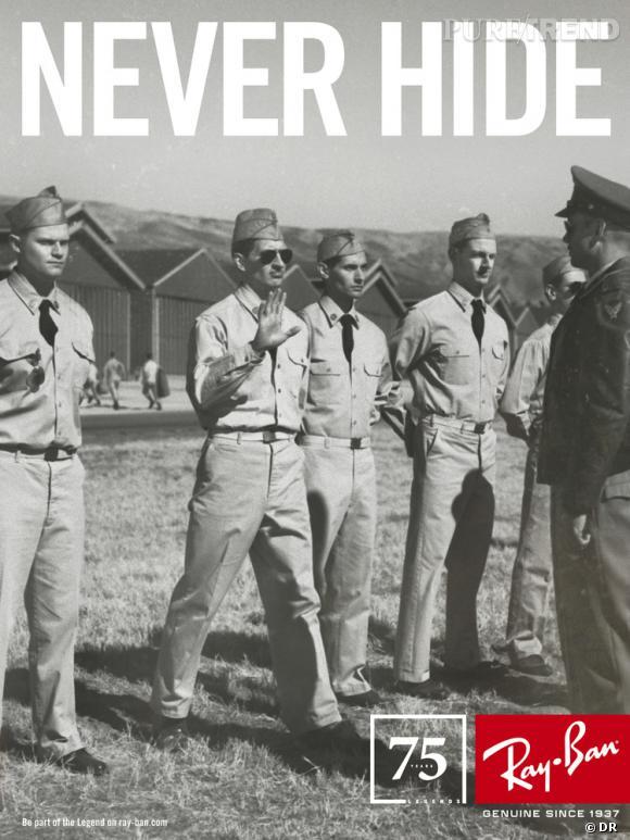 """Campagne anniversaire Ray-Ban par Mark Seliger.   Années 30 : L'histoire du Lt. Raymond Swalley, pilote dans l'escadron des """"Blue Devils""""."""