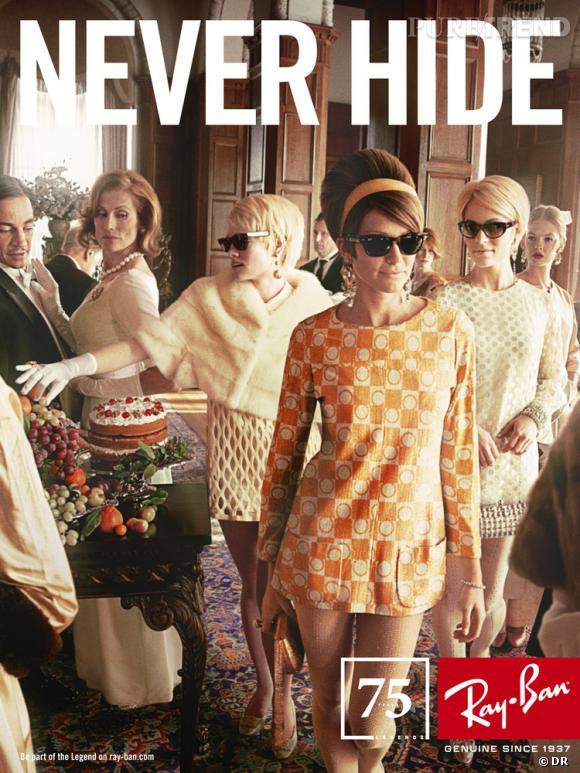 Campagne anniversaire Ray-Ban par Mark Seliger.   Années 60 : l'histoire de Judi Cohen, ou comment oser adopter la mini-jupe avant l'heure.
