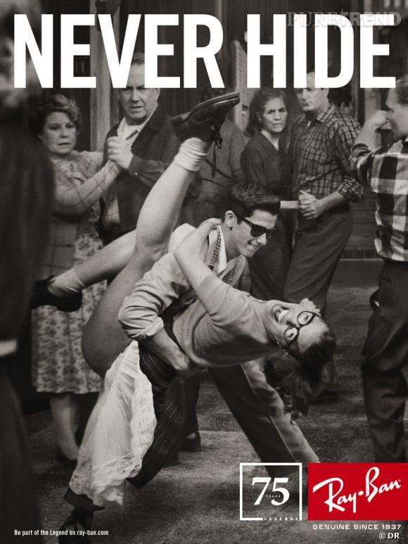 Campagne anniversaire Ray-Ban par Mark Seliger.   Années 50 : l'histoire du musicien Norman Blagman et de sa collaboration avec Elvis Presley.