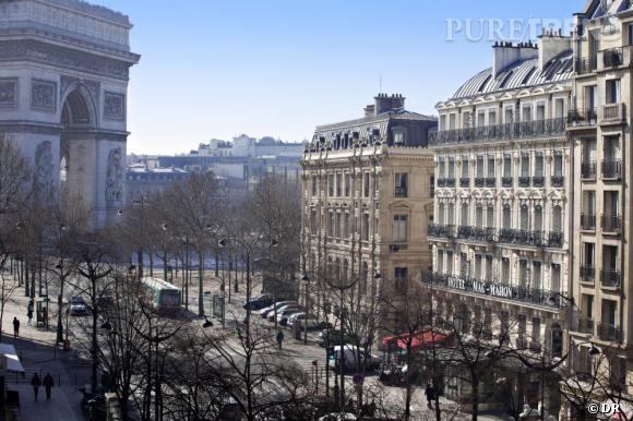 La vue de l'hôtel Mac Mahon Champs Elysées