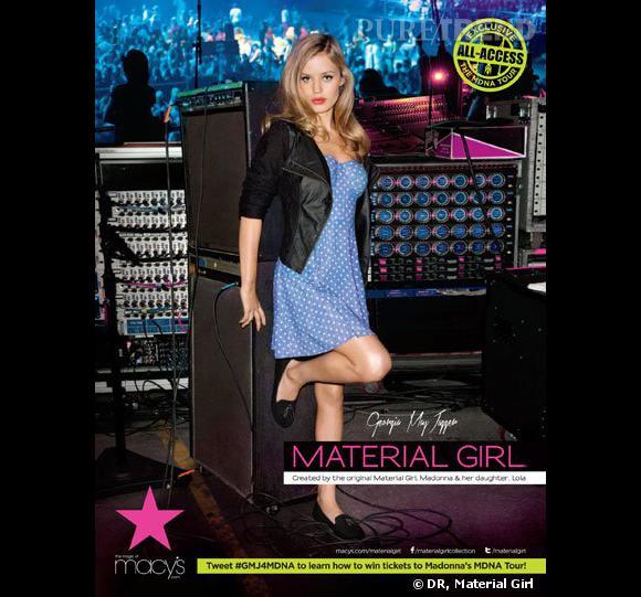Georgia May Jagger pour Material Girl.
