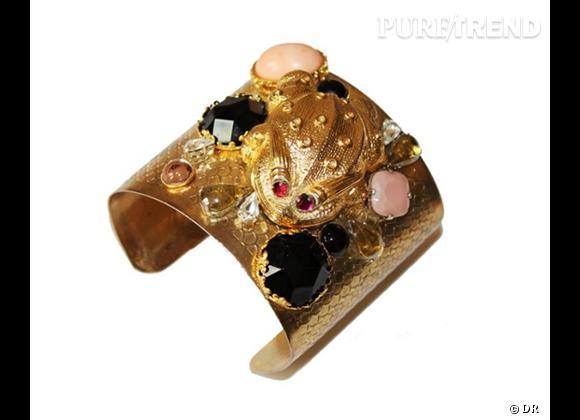 Le must have d'Amélie       Manchette Froggie BEADS Fine Jewellery 130 € sur  www.glazedshop.com