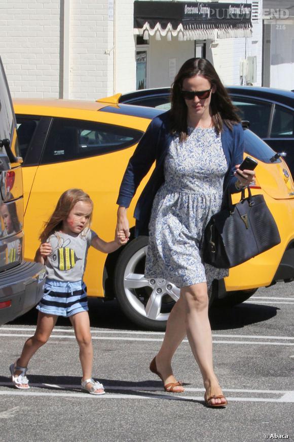 Jennifer Garner et sa fille Seraphina à Los Angeles dimanche dernier.