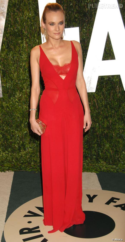 Diane Kruger en Calvin Klein est renversante.