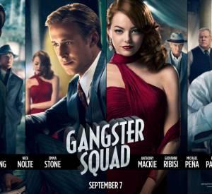 "Le poster met en avant le casting de rêve de ""Gangster Squad"" : Emma Stone, Ryan Gosling, Sean Penn et Josh Brolin"
