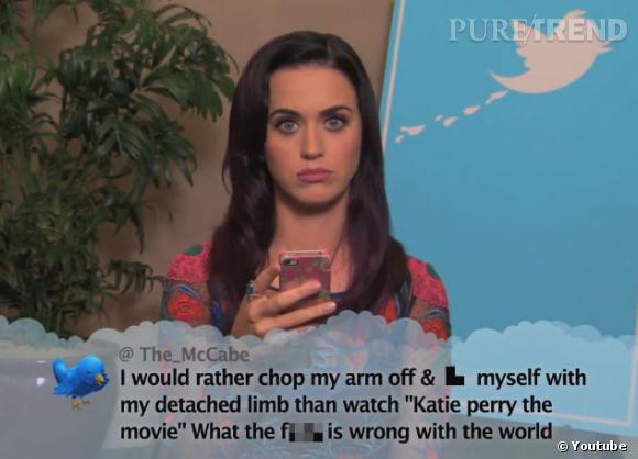 Katy Perry est au courant du flop de son documentaire, mais c'est autre chose de lire un tweet méchant dessus