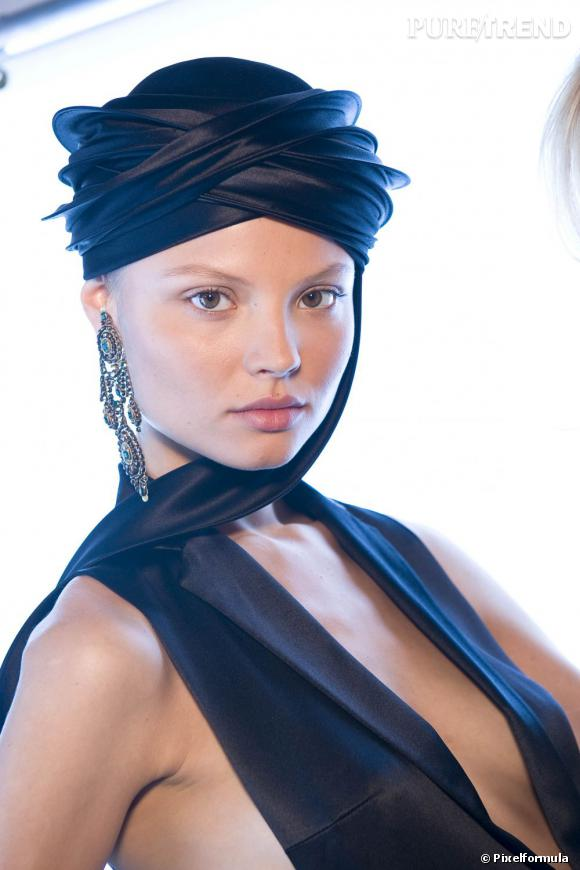 Le turban Princesse du désert    Défilé Ralph Lauren, Printemps-été 2009.