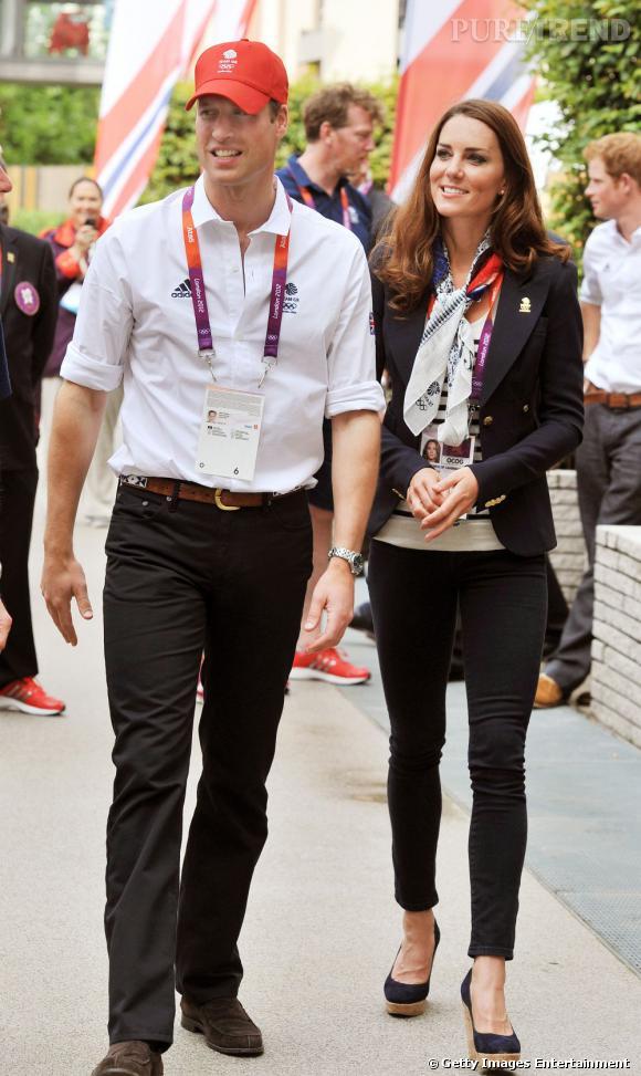 Kate Middleton en compagnie de son époux, la Prince William d'Angleterre.