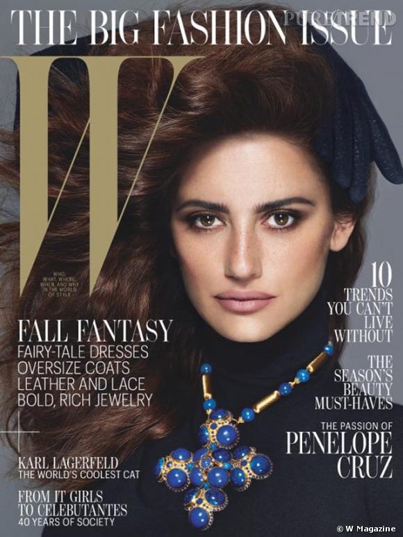 Penelope Cruz en Givenchy en couverture du W Magazine de septembre 2012.