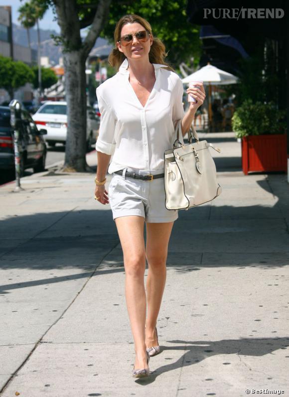 Ellen Pompeo dans les rues de Los Angeles le 16 août dernier.