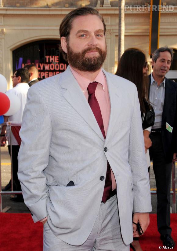 """Zach Galifianakis, le comique de service, a vu sa carrière faire un bond en avant grâce au film """"Very Bad Trip"""""""