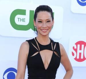 Lucy Liu VS Podium : la robe à découpes J Mendel