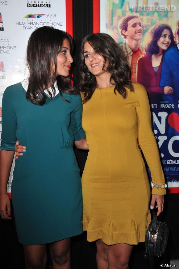 Comme les anglaises, Leïla Bekhti et Géraldine Nakache adoptent la tendance monochrome.