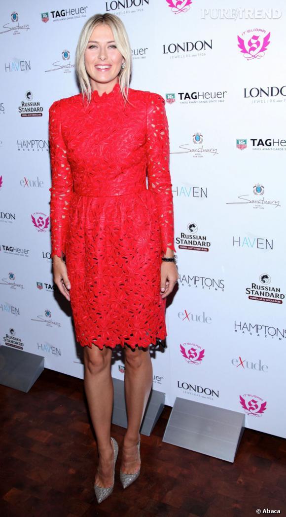 Côté red carpet :  Maria Sharapova.