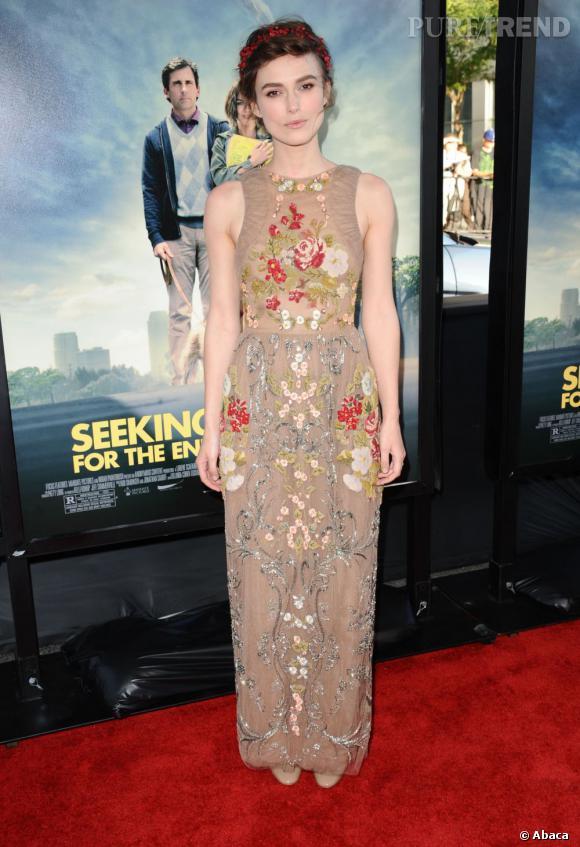 Côté red carpet :  Keira Knightley.