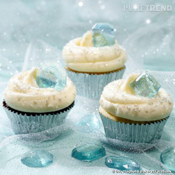 Des cupcakes précieux Magnolia Bakery et Swarovski.