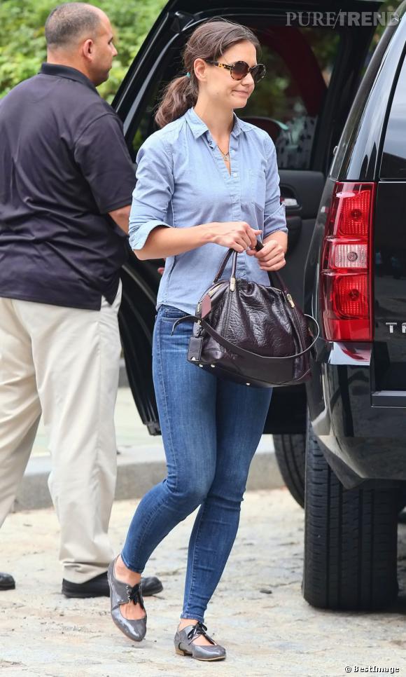 Katie Holmes quelque peu négligée le 3 septembre dernier à New York.