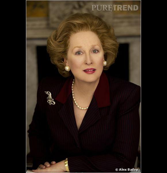"""Pour interpréter Margaret Thatcher dans """"La Dame de fer"""", Meryl Streep s'est mise au brushing et a mis le paquet sur le volume. On la préfère au naturel."""