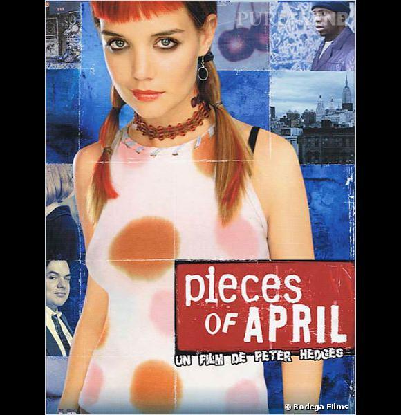 """Avant d'incarner Jackie Kennedy à l'écran, Katie Holmes a connu quelques égarements capillaires. Comme ici, dans le film """"Pieces of April"""" où elle arbore des couettes façon perroquet."""