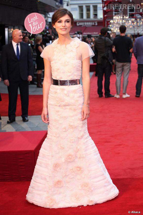 """Keira Knightley lors de la première mondiale du film """"Anna Karenina"""" à Londres le 4 septembre dernier."""