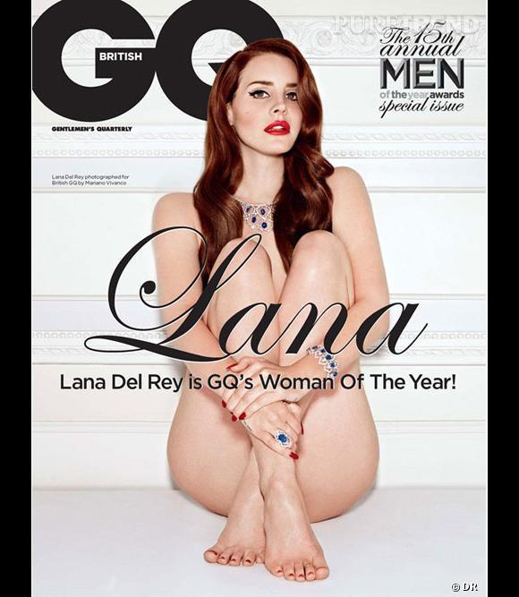 Lana Del Rey n'a pas froid aux yeux ! Elle pose nue en Une de GQ et prend des poses très sensuelles dans les pages intérieures.