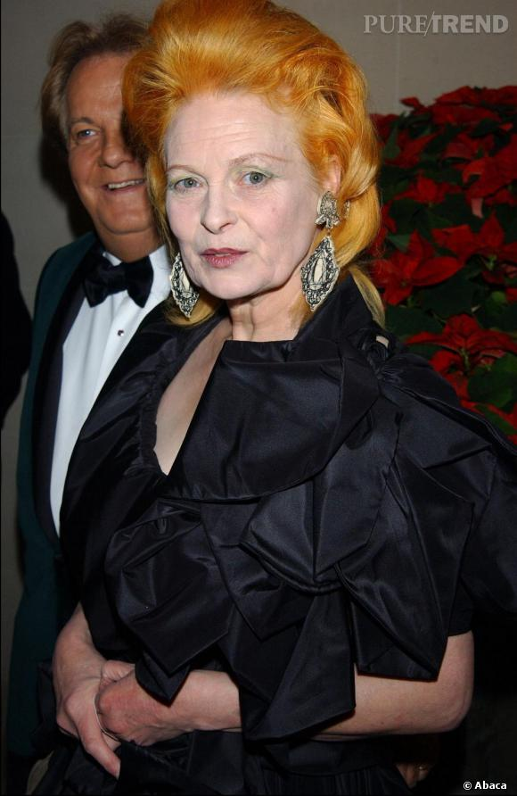La marque de fabrique de Vivienne Westwood ? Sa crinière orange vif crêpée.