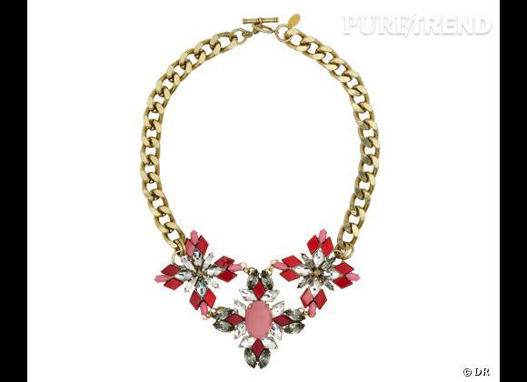 E-shopping : les 20 essentiels du look parisienne    Collier en cristaux Anton Heunis, 350 €    www.monnierfreres.fr