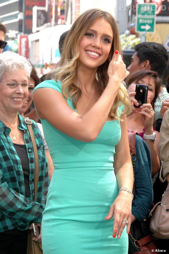 Jessica Alba a New York le 12 septembre dernier.