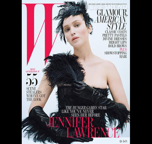 Jennifer Lawrence pour W magazine.