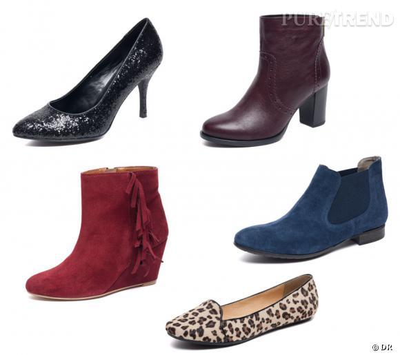 Collection Naf Naf pour La Halle aux Chaussures.