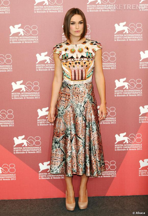 Comme Keira Knightley par exemple. L'actrice avait déjà surpris en choisissant le marque à Venise l'année dernière. Un sans-faute !