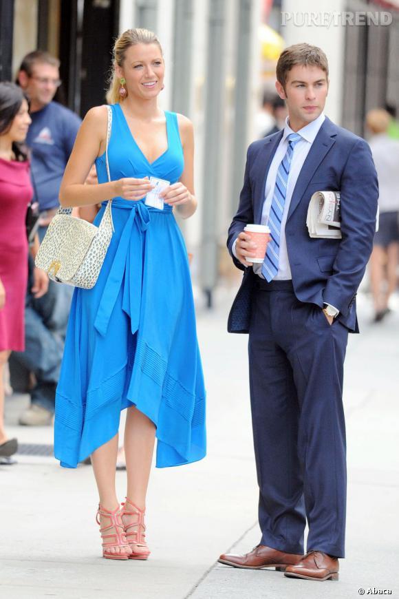 ... C'est Blake Lively ! On est certain qu'elle craquera pour le modèle de Matthew Williamson, qui flattera ses longues jambes et sa carnation.