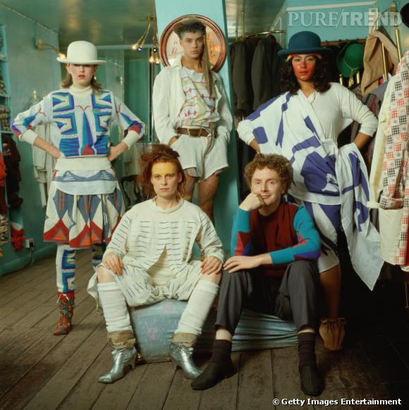 Vivienne Westwood et Malcolm McLaren en 1985 à Londres.