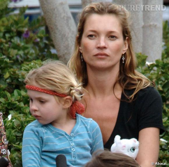 Kate Moss, une très jolie maman.