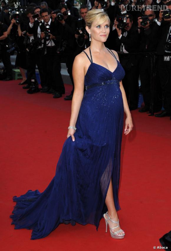 Reese Witherspoon, enceinte à Cannes en mai dernier.