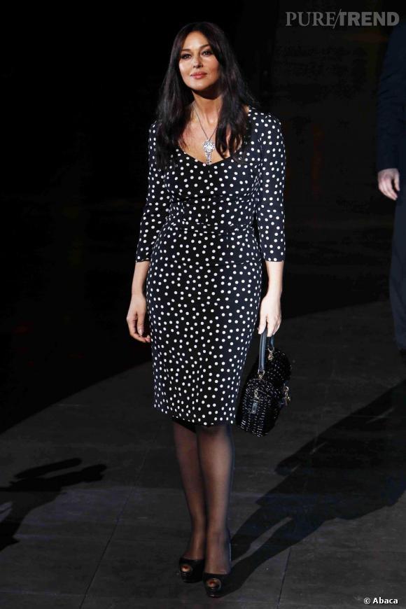 Monica Bellucci, une italienne glamour.