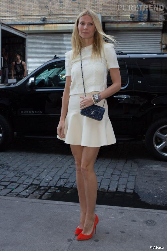 Gwyneth Paltrow, look zéro faute au lancement du Tracy Anderson Method Pregnancy Project à New York.