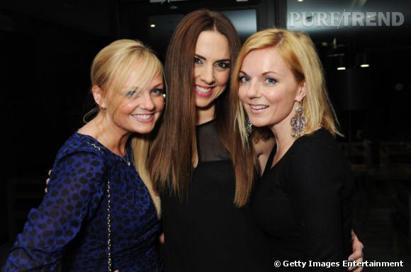 Emma Bunton, Mel C et Gei Halliwell au Hilton de Londres.