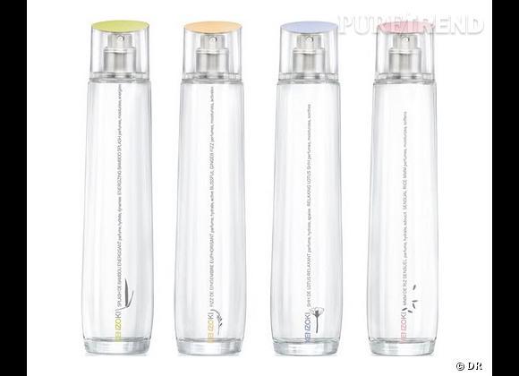 Eaux Parfumées Bienfaitrices de Kenzoki, 46 € l'une.