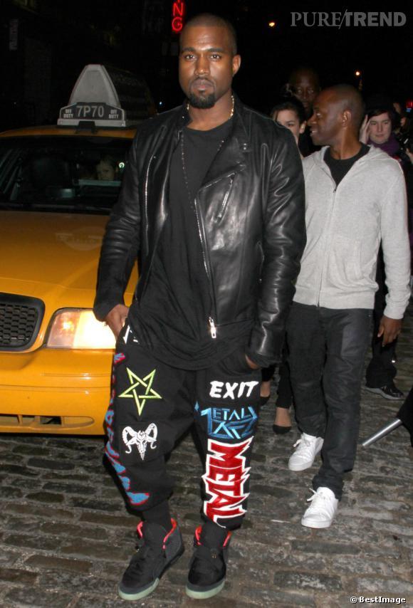Kanye West aurait dû laisser son jogging à la maison.