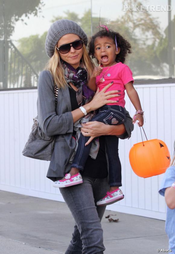 Heidi Klum à transmis la fièvre d'Halloween à sa petite dernière.