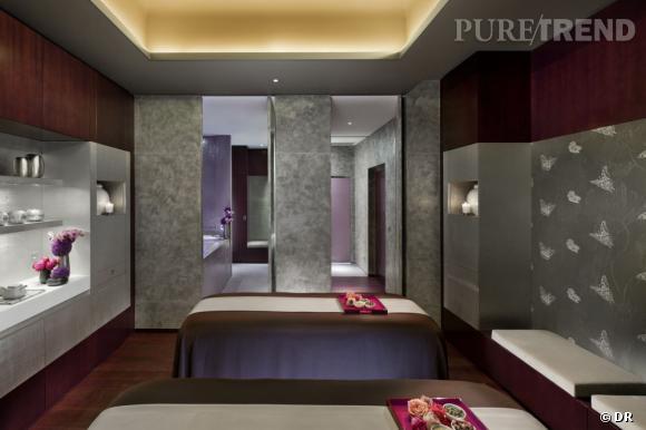 Une cabine double du Mandarin Oriental Spa.